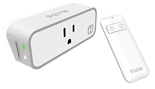 iHome iSP8 Wi-FI SmartPlug, Use your voice to control connected devices, handheld remote included,...