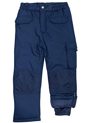 CHEROKEE Boys and Girls Snow Pants – Insulated Heavyweight Water-Resistant Ski Pant, Size 5/6, Navy
