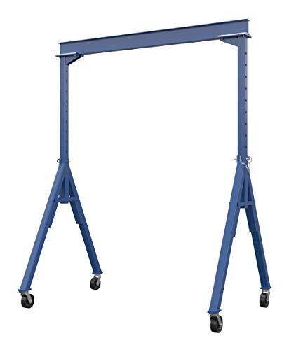 Vestil AHS-4-10-12 Steel Adjustable Height Gantry Crane, 4000 lbs Capacity, 10' Length x 8