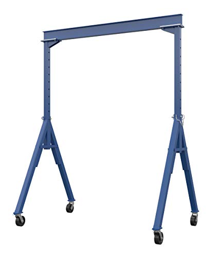 Vestil AHS-8-10-12 Steel Adjustable Height Gantry Crane, 8000 lbs Capacity, 10' Length x 10