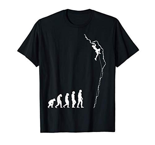 Klettern Evolution Bouldern Kletterer Geschenk T-Shirt