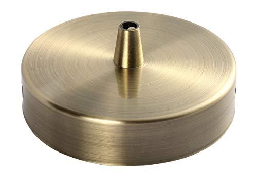 Plafonnier Acier 1 sortie D100mm Léton + arrêt de cable D7mm
