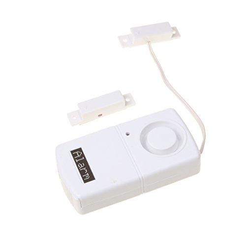 MERIGLARE Sensor de Alarma de Puerta de Ventana Interruptor Magnético Inalámbrico Adhesivo Ladrón Casero