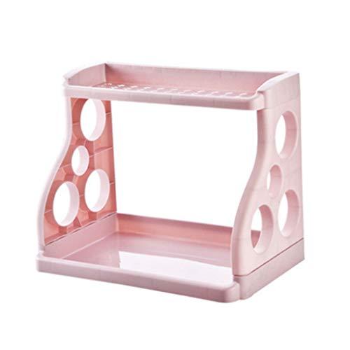 VVXXMO Multifunción de doble capa de almacenamiento de especias para cocina, baño, encimera, diseño simple, organizador de hogar y cocina