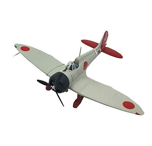 XIUYU Caccia Militare Modello, 1/72 Scala Seconda Guerra Mondiale Bianco Zero Fighter Modello del Metallo, Edizione del collettore, 4.Inchx5.9Inch