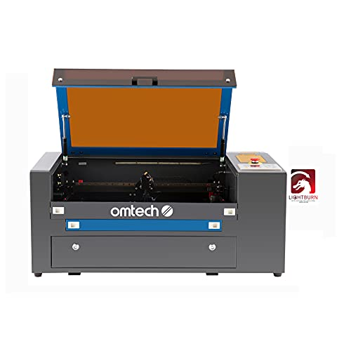 """OMTech 50W CO2 Laser Engraver and Rotary Axis, 50W Laser Cutter Machine with LightBurn Software, 12""""x20"""" Laser Engraving Machine with 2 Way Pass Air Assist RDWorks, Laser Cutting Machine(MF-1220-50R)"""