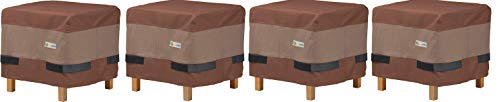 Duck Covers Ultimate Waterproof 20 Inch Square Ottoman/Side Table Cover (Pack of 4)