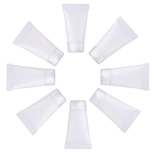 BENECREAT 30 STÜCKE 15 ml Transparent Leere Nachfüllbare Kunststoff Weiche Verpackung Tubes Flasche Mini Kosmetische Behälter Für DIY Lipgloss, Körperlotion Kosmetik Probe Shampoo Shower Gel Cleanser