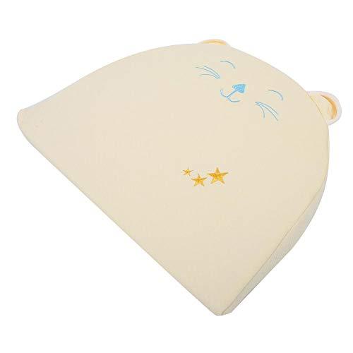 Regalo de abril Almohada de transpiración transpirable para bebé, almohada de espuma viscoelástica segura de alta calidad, cómoda para 0-10 meses bebé bebé niño niña evita regurgitación du