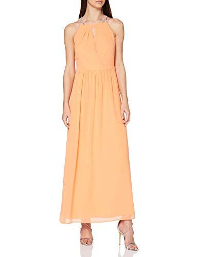 ESPRIT Collection Damen 020EO1E303 Kleid für besondere Anlässe, Orange (Orange 820), 38