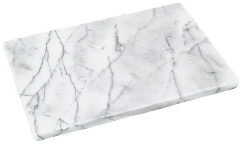 Horwood Marbre Poli Blanc - 30 cm x 20 cm-Bord