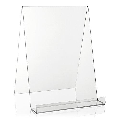 VITAdisplays® DIN A4 Buchständer/Buchstütze/Buchhalter als Warenträger aus original PLEXIGLAS® (Acrylglas, Transparent)