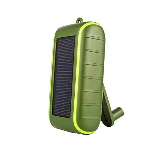 chora Manivela Solar 10,000 MAh Cargador Solar Banco De Energía Cargador De Teléfono Celular Portátil Cargador De Batería Externa, Linterna LED, Doble Salida USB, Resistente Al Agua, Beautifully
