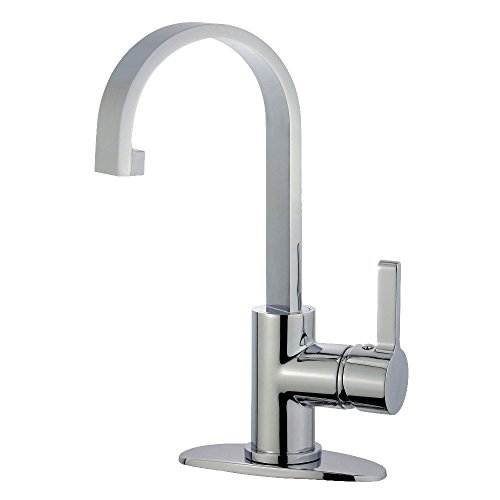 "Kingston Brass LS8211CTL Continental Lavatory Faucet with Push-Up Pop-Up, 5-1/16"" in Spout Reach, Polished Chrome"
