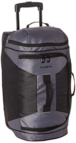 Samsonite Andante 2 Drop Bottom Wheeled Rolling Duffel Bag, Riverrock/Black, 28-Inch