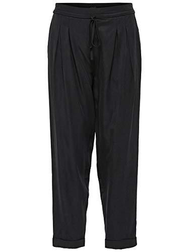 SELECTED FEMME Damen Hose SLFPORTA MW ANKLE PANT B, Schwarz (Black), W(Herstellergröße: 34)