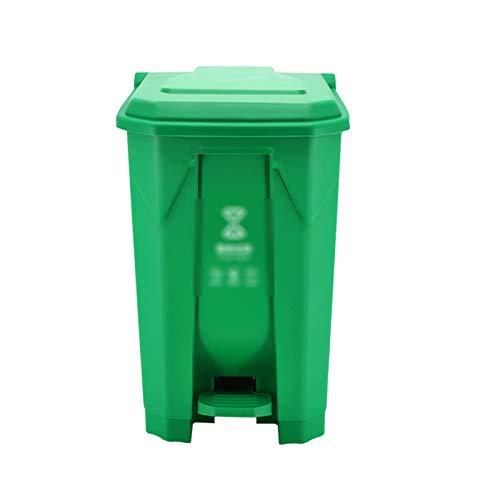 CSQ- Bote De Basura De Plástico De Gran Capacidad, Grueso Y Duradero Bote De Basura Tipo Pedal Centro Comercial Inodoro Fábrica Parque Calle Cubo De Reciclaje De Basura(Color:segundo,Size:100L)