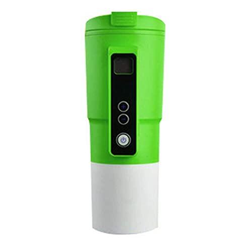 Calefacción Taza de café 12V, 400 ml 12V Acero inoxidable Copa de calefacción LCD Digital Pantalla de agua Calefacción Aislamiento Taza Universal Coche eléctrico Tazas eléctricas (Color: Rojo) mei