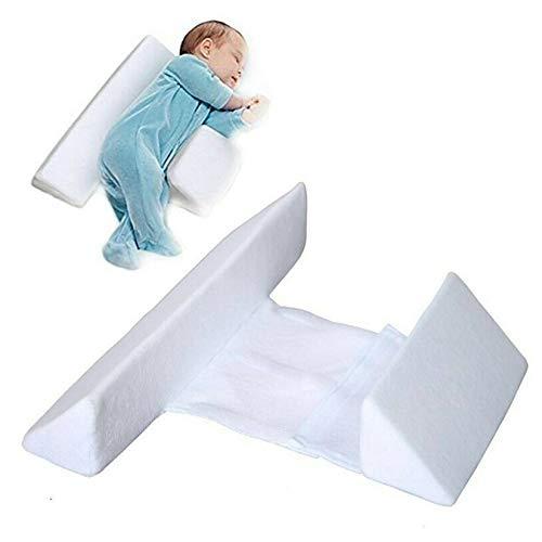 SHOULIAN Cuña de Almohada para Dormir del Lado del bebé, posicionador de cuña para Dormir Infantil con Lados, para posicionador de sueño Lateral de Leche Anti-Saliva para bebés