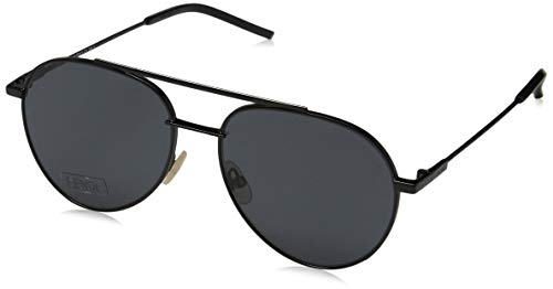 FENDI FF 0222/S IR 807 56 Gafas de sol, Negro (Black/Grey...