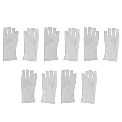 MERIGLARE 5 Paires De Gants De Protection Anti-UV En Tissu Pour Gel Polonais De Sèche-ongles LED