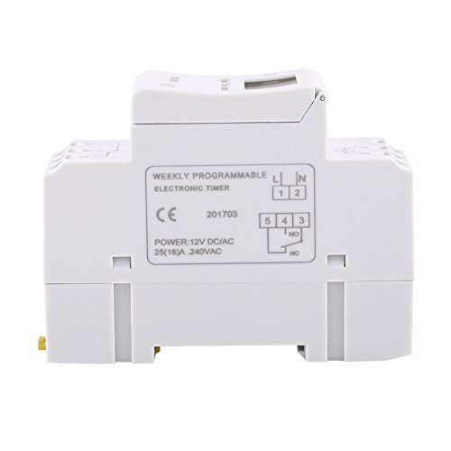 Temporizador de interruptor de tiempo de relé electrónico de pantalla LCD para controlar las farolas(12V)