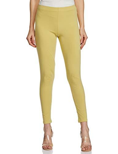 GO COLORS Women's cotton legging Bottom (LL-YNG GRN103-M_ Young Green_ Medium)