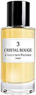 N°3 Cristal Rouge   Baccarat - Collection Prestige edition Prive Rose Paris - Eau de Parfum Haut de Gamme - Made in France...