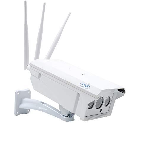 PNI 4831 Videocamera di videosorveglianza Slot gsm 4G SIM IP30 Live 1.3MP, per Esterni e Interni