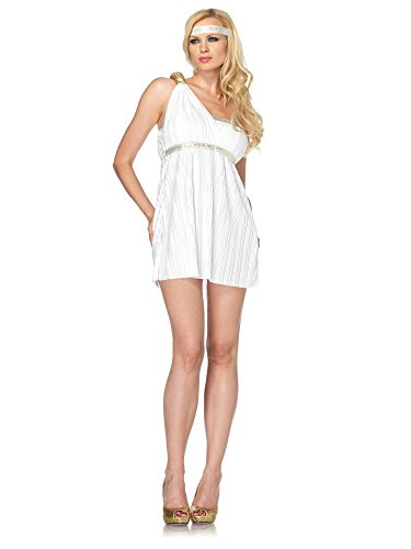 Leg Avenue Costume 2 Pièces Déesse Athéna Blanc Medium/Large