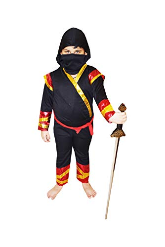 Fancy Steps Ninja with Sword Fancy Dress Costumes pls See dropdown for Size (4-6yrs)