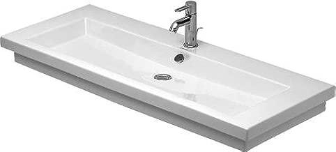 Duravit 4911200271 2nd Floor Washbasin 47 1/4, 1 Hole Tapping, White
