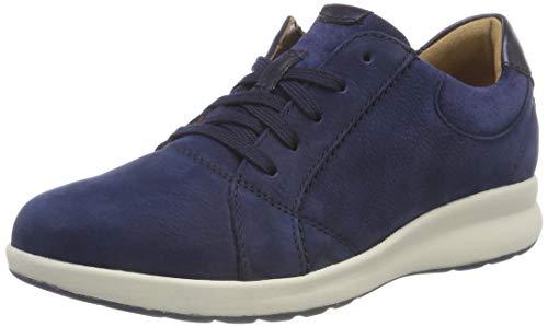 Clarks Un Adorn Lace, Zapatos de Cordones Derby Mujer, Azul (Navy Combi), 43 EU