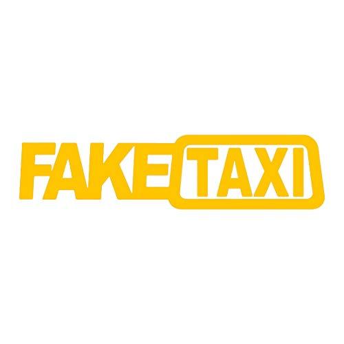 greestick Fake Taxi Aufkleber Auto Sticker Bomb 20x5cm gelb Decal Vinyl