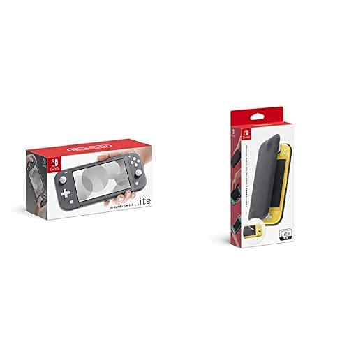 Nintendo Switch Lite グレー+【任天堂純正品】Nintendo Switch Liteフリップカバー(画面保護シート付き)