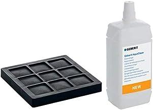 Geberit Aqua Clean actieve koolfilter en sproeireiniger.