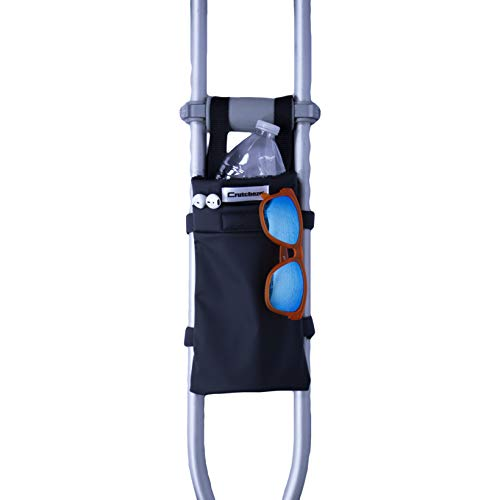 Crutcheze Black Crutch Bag, Pouch, Pocket, Tote Washable Designer Fashion Orthopedic Products Accessories Made in USA