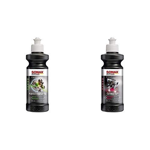 SONAX PROFILINE PerfectFinish (250 ml) + PROFILINE CutMax (250 ml) hoch effektive Schleifpaste für den Lackfinishbereich
