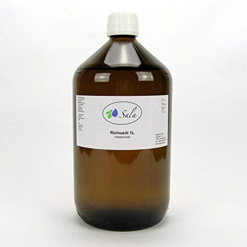 2x Sala Rizinusöl kaltgepresst 1000 ml 1 L Glas