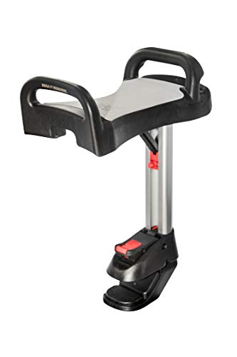 Lascal Saddle für BuggyBoard Maxi, einklappbarer und abnehmbarer Sitz, Kinderwagen Zubehör für Maxi-Modelle ab 2011, bequeme Sitzmöglichkeit für Kinderbuggys, grau