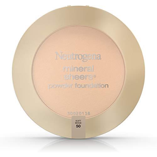 Neutrogena Mineral Sheers Powder Foundation, Soft Beige 50, 0.34 Ounce -  Aveeno, 86800005551