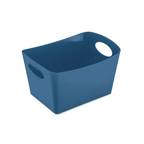 Koziol 5745675 Boxxx S Boîte de Rangement en Plastique thermoplastique Bleu foncé 1 l