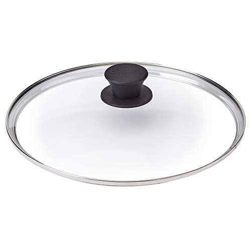 Glass Lid - 10'-inch/25.4-cm/264mm - Compatible with Lodge - Fully Assembled Tempered Replacement Cover - Oven Safe for Skillet Pots Pans - Universal for all Cookware: Cast Iron, Stainless Steel