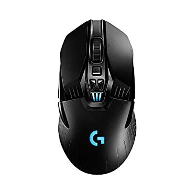 Logitech G903 LIGHTSPEED Wireless Gaming Mouse, Hero 16K Sensor, 16,000 DPI, RGB, Lightweight, Programmable Buttons, 140-Hour Battery Life, Rechargeable, Ambidextrous, PC/Mac, Black (German Packaging)