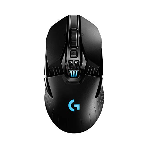 Logitech G903 LIGHTSPEED Wireless Gaming Mouse W/ Hero 25K Sensor, PowerPlay Compatible, 140+ Hour with Rechargeable Battery and Lightsync RGB, Ambidextrous, 107G+10G optional, 25,600 DPI