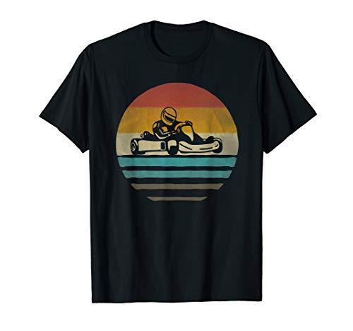 Go Kart Racing Retro Vintage Sunset Old School Funny Gift T-Shirt