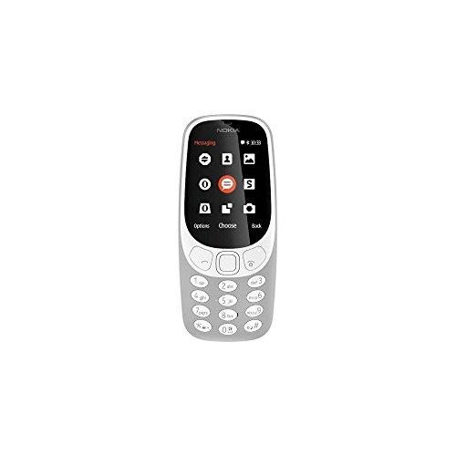 Nokia 3310 Telefono Cellulare, Memoria Interna da 16 MB, Dual SIM, Grigio [Italia]