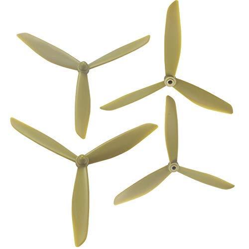 Parti del drone, 501S X4 HS700 Paletta triangolare aggiornata MJX B3 B3 PRO B2SE Rc Quadcopter Dronefor MJX Bugs 3 Parti di riparazione Accessori Ala (Color : Gold)