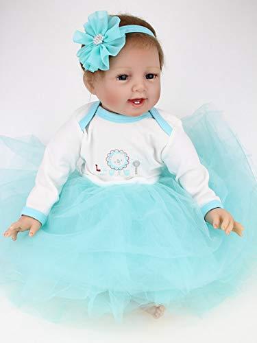 ZIYIUI Muñecas Reborn Baby Dolls 22 Pulgadas 55cm Bebe Reborn niña Suave Vinilo de Silicona Lifelike Ojos Abiertos Girl Bebé Recién Nacido Regalo de Juguete