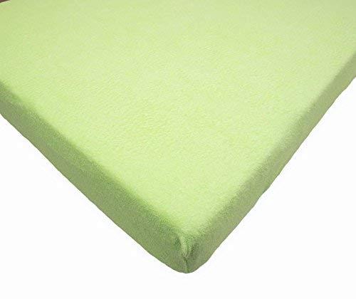 Drap-Housse en Tissu Eponge pour Lit Bébé 160x70 cm - Vert